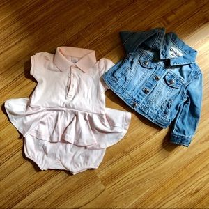 Ralph Lauren Baby Dress & Denim Jacker OshKosh